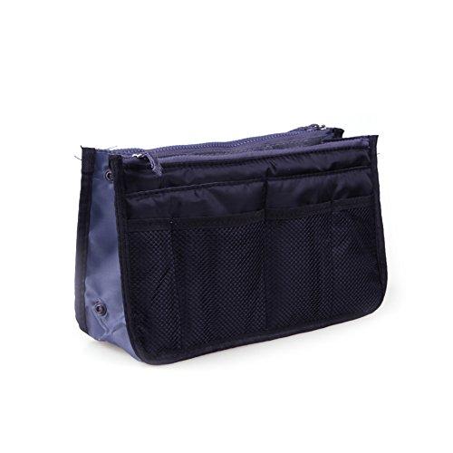SMARTRICH - 1 Bolsa de Maquillaje para Viajes, Accesorios de Viaje, Bolsa de Almacenamiento Multifunción, Tela, Amarillo, 28.5 * 18.5 * 10cm Negro