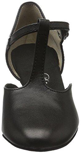 Nero black 053 Tanzschuhe Damen Donna 006 Scarpe Tacco Con Diamant 034 gZpzpq