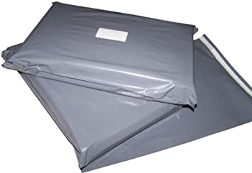 202eb6744e Image Unavailable. Image not available for. Colour  100 10x14 Grey Postage  Mailing Bags
