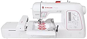 SINGER XL-580 Futura Embroidery and Sewing Machine with 250 Embroidery Designs
