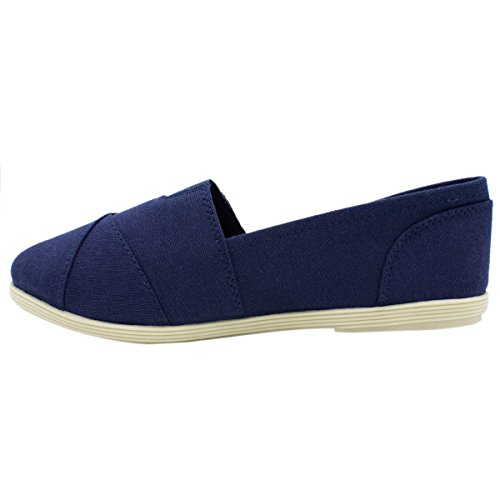 Soda Women Object Flats-Shoes Neue Marine