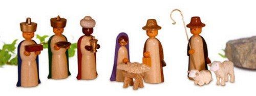 Miniatures figures, colored glazed 4,5cm miniature Christmas figure ore mountains