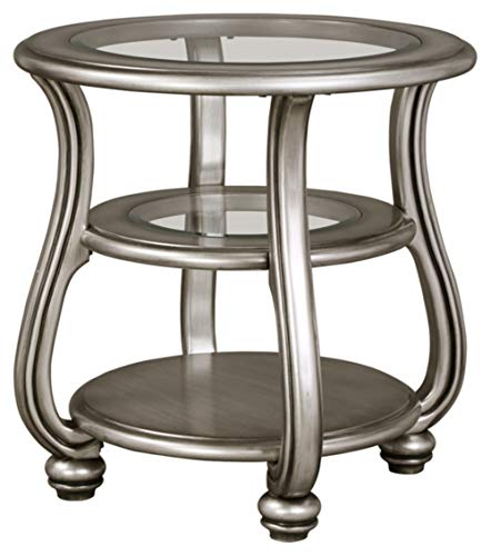 Coralayne Coffee Table Silver Finish - Signature Design by Ashley