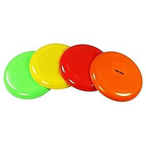COM-FOUR® Frisbee Wurfscheibe in tollen Farben (4er Set)