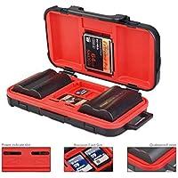 SHOPEE Camera Battery Case Holder and Memory SD TF CF Card Case Storage Box Waterproof Camera Battery Holder for LP-E6 /LP-E8 /LP-E10 /EN-EL14 /EN-EL15