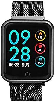 Relógio Smartwatch P68 Inteligente Ip68 Monitor De Pressão Arterial Frequência Cardíaca Impermeável Iphone Android Saúde (PRE