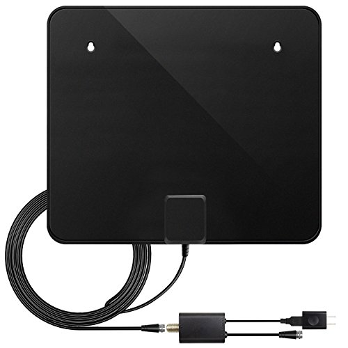 41J1xsf9IIL - TV Antenna, Upgraded Version Indoor Amplified HDTV Antenna 60 Mile Range with Detachable Amplifier Signal Booster, USB Power Supply and 10 ft High Performance Coax Cable