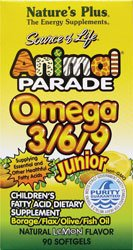 Animal Parade junior Omega 3-6-9 citron Saveur - - plus de 90 gélules Nature