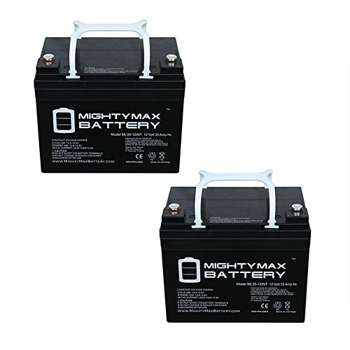 12V 35AH INT Battery Replaces Golden Tech Companion II GC340 - 2 Pack - Mighty Max Battery brand (Wheel Companion Electric Scooter)