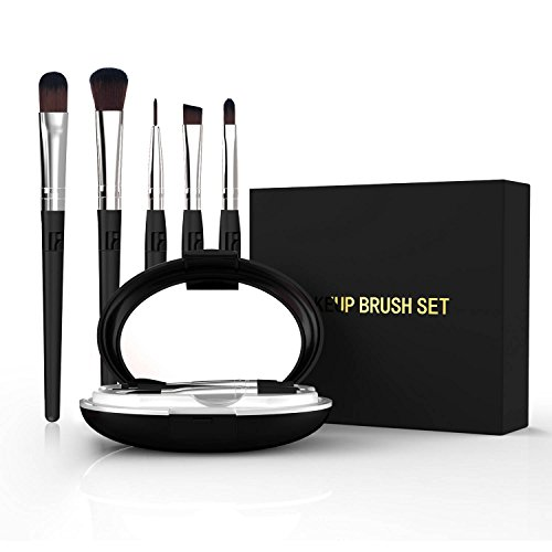 5-In-1 Portable Professional Artist Paint Brush Set Box Foundation Eyeshadow Makeup Brushes with Shared Handle at Home or Travel by QTKJ (Image #5)