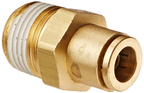 Eaton Weatherhead 1868X6X8 Brass CA360 D.O.T. Air Brake Tube Fitting, Male Connector, 1/2'' NPT Male x 3/8'' Tube OD by Weatherhead