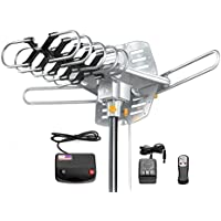 Jeje TV Antenna Amplified 150 Miles HD Digital Outdoor HDTV , 360° Rotation (Non Mount Pole)