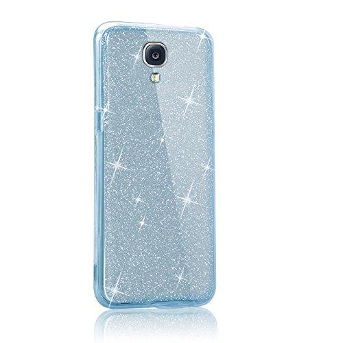 Funda Doble para Samsung Galaxy Note 3, Vandot Bling Brillo Carcasa Protectora 360 Grados Full Body   TPU en Transparente Ultra Slim Case Cover   Protección Completa Delantera y Trasera Cocha Smartpho Bling Blue