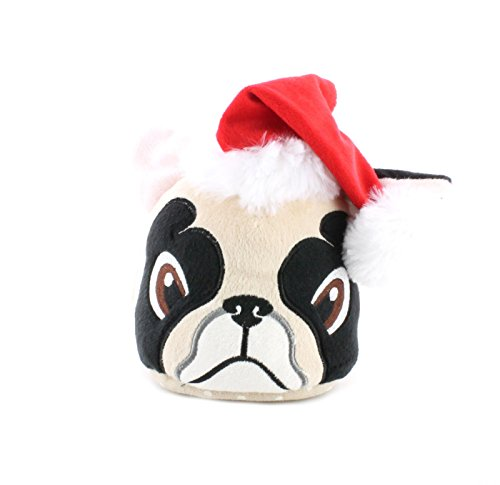 Zapatilas con suela de agarre para casa, diseño de perro carlino Pugmas