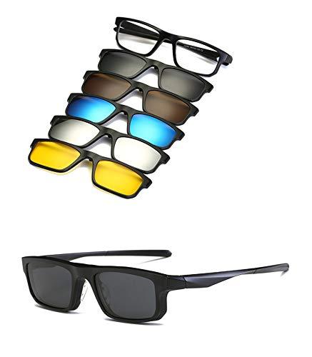 5 In 1 Sunglasses Men Magnetic Sunglasses,2256A ()