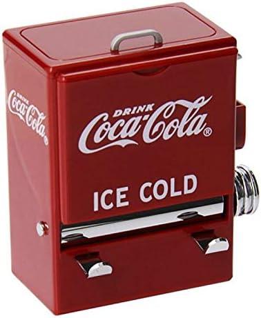 xuyang Caja de palillos de dientes retro con estilo de máquina expendedora para prensar palillos de dientes, dispensador de plástico para decoración (color: rojo)