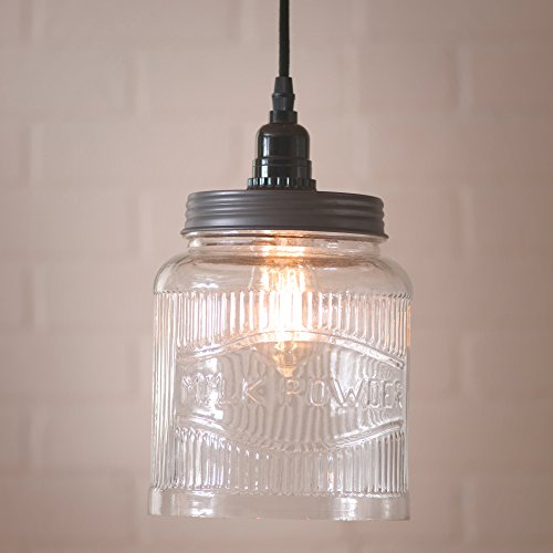 (Irvin's Country Tinware Large Ribbed Jar Pendant )