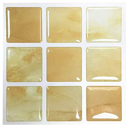 Coral Tile - 3D Vinyl Wall Tiles Peel and Stick Backsplash,Self Adhesive Coral Kitchen Tiles for Home Decor (4