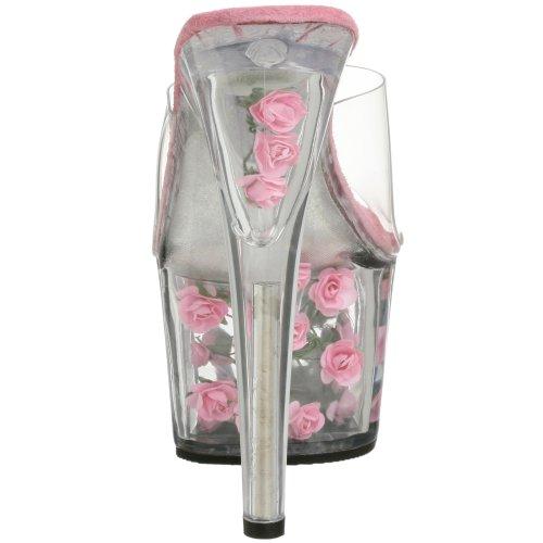 Femme Bout Transparent Adore 701fl Ouvert Pink Pleaser Flowers h Sandales clr gXqtt