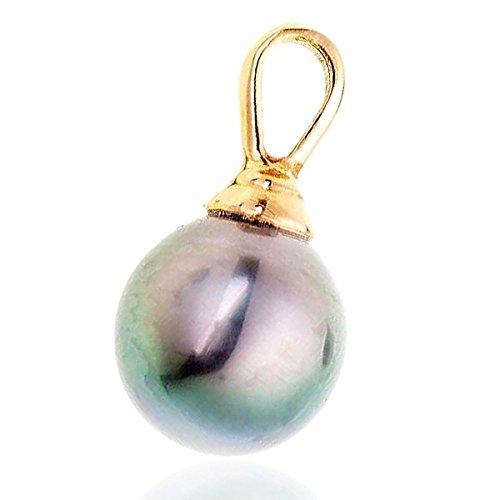 ALOHA - Pendentif Perle de Tahiti - Or 18 carat - Diamètre de la perle: 9-10 mm - www.diamants-perles.com