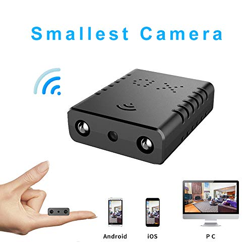 Smallest WiFi Spy Hidden Camera Mini Wireless Camera HD Indoor Home Smallest Spy Nanny Cam Security Cameras with Motion Detection/Night Vision/Cloud Storage for iPhone/Android Phone/iPad/PC (Best Cloud Storage For Android Phones)