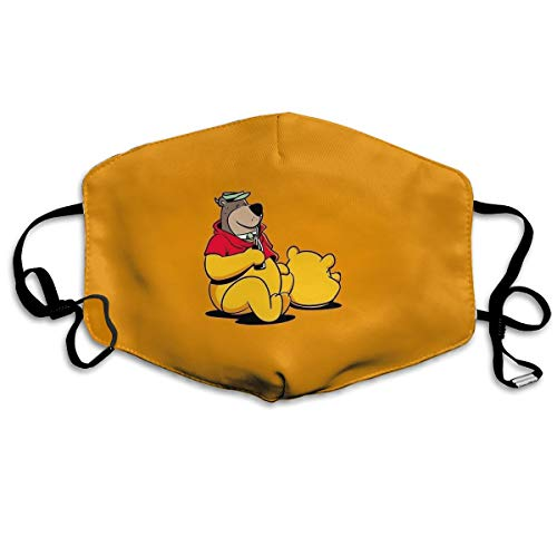 CFECUP Mouth Mask Winnie Pooh Bear Anti-dust Polyester Face Mask Unisex -