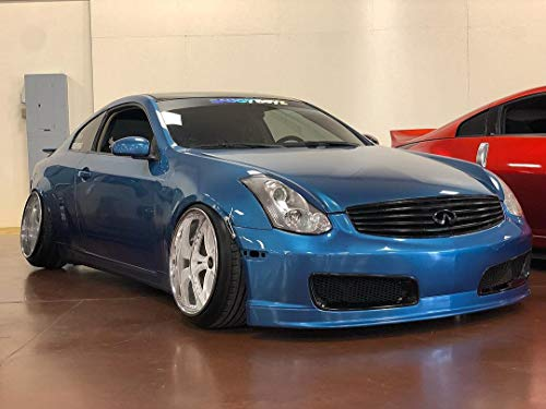 KBD Body Kits Compatible with Infiniti G35 2DR Coupe 2003-2007 Nismo Style 1 Piece Flexfit Polyurethane Front Bumper. Extremely Durable, Easy Installation, Guaranteed Fitment, Made in the USA!