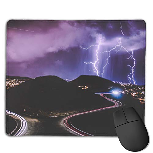 Kim Mittelstaedt Personalized Lightning Storm Rectangle Waterproof Material Non-Slip Rubber Gaming Mouse ()