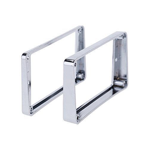 Andoer Chrome-Plated Plastic Guitar Pickup Frame Mounting Ring for LP Guitar Silver (Chrome Pickup Rings)