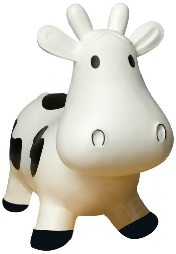 Trumpette Howdy Cow Kids Inflatable Bouncy Rubber Hopper Ride-On Toy White by Trumpette (Image #4)