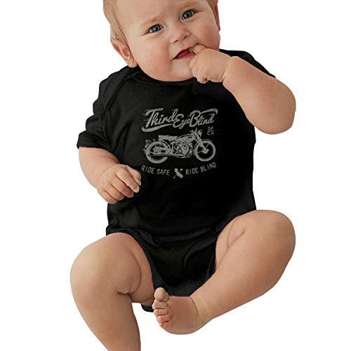 LIIREN Third Eye Blind Short-Sleeve Coverall for Baby Boy Black