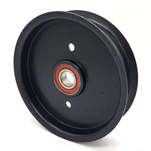 Phoenix Mfg. Toro 1-613098 Exmark 1-613098 Flat Idler Pulley - 5'' Flat Dia. - 17mm Bore - Steel