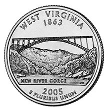 (2005 D West Virginia State Quarter Choice Uncirculated)
