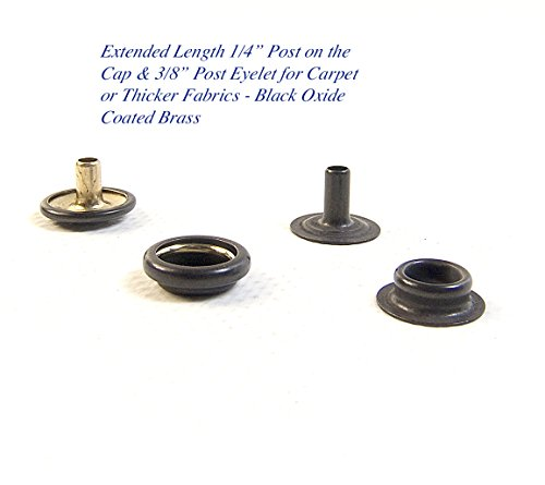 Snap Fastener Extended Length Cap has a 1/4