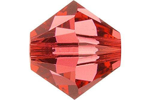 Padparadscha Swarovski Crystal Bicone Beads - 20 pcs Swarovski Crystal Bicone 5328 Beads, Padparadscha, 6mm