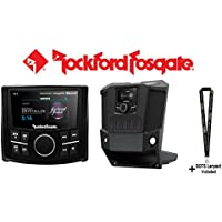 Rockford Fosgate PMX-3 2.7 Punch Marine Compact Digital Media Receiver (Does NOT play CDs) w/ Rockford Fosgate RFRNGR-PMXDK PMX dash kit for select RANGER models & a SOTS Lanyard