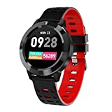 Jennyfly Fitness Tracker, Multifunction Bluetooth Color Touch Screen Sport Watch IP67 Waterproof Smart Watch with Heart Rate/Blood Pressure/Blood Oxygen Monitor Fitness Tracker for Android iOS - Red