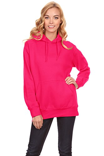 - Simlu Hot Pink Hoodie, Hot Pink Sweatshirt, Hot Pink Sweater Pullover for Women, Hot Pink, Small