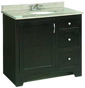 Premier faucet 106724 sonoma rta vanity 36 inch espresso finish bathroom vanities for 36 inch espresso bathroom vanity
