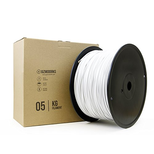 Gizmo Dorks PLA Filament for 3D Printers 3mm (2.85mm) 5kg, White by Gizmo Dorks