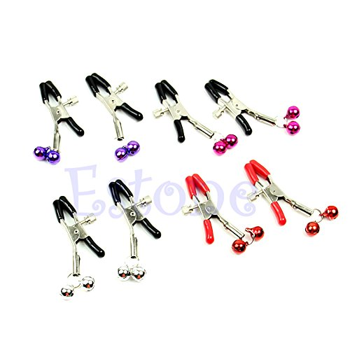 Kangnice-Nipple-Clips-Clamps-Jewellery-Bust-Massager-Stimulate-Sex-Toys