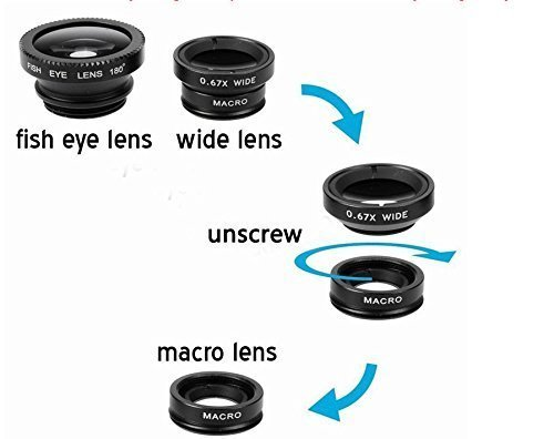 Insasta-IN72354-Universal-3-in-1-Cell-Phone-Camera-Lens-Kit-Fish-Eye-Lens-2-in-1-Macro-Lens-Wide-Angle