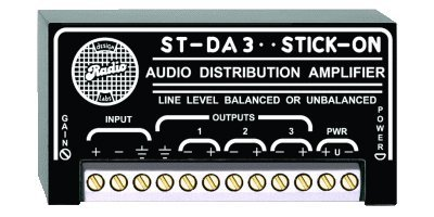 RADIO DESIGN LABS ST-DA3 RDL AUDIO DISTRIBUTION AMPLIFIER, POWER REQUIREMENTS: 24-30 VDC FLOATING OR 12-15 VDC BIPOLAR SUPPLY, 50 MA, APPLICATIONS: DISTR