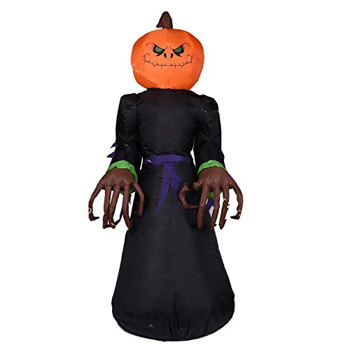 Fairy-Margot Halloween Inflatable Vampire Outer Decoration Large Party Yard Decoration Pumpkin Decoration,Pumpkin Monster,110V