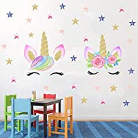 Easu Unicorn Wall Decals Unicorn Star Wall Decals Girls...