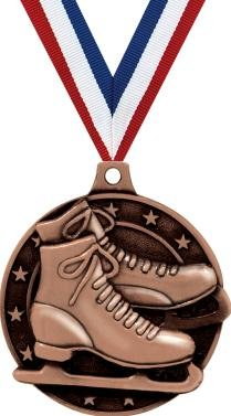 クラウンAwards Ice Skating Medal – ブロンズIce Skates Medals withネックリボンPrime B07FP17B28 5