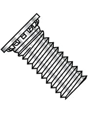 4-40X3/8 Self Clinching Stud 12 Rib Full Thread 300 Series Stainless Steel (Pack Qty 5,000) BC-0406SCN300 by Shorpioen