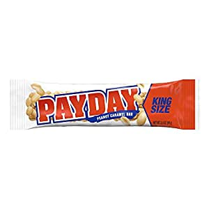 PAYDAY Peanut Caramel Bar (King Size, 3.4-Ounce Bars, Pack of 18)