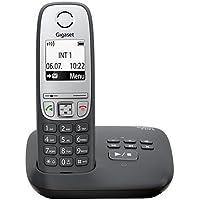 Gigaset A415A Telefon - Schnurlostelefon/Mobilteil mit Grafik Display - Dect-Telefon mit Anrufbeantworter/Freisprechfunktion - Analog Telefon - Schwarz