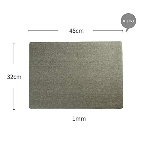 - Metal Brushed Pvc Placemat Thick Waterproof Tableware Bowl Pad Insulation Pad Easy To Clean Hotel Western Meal Mat